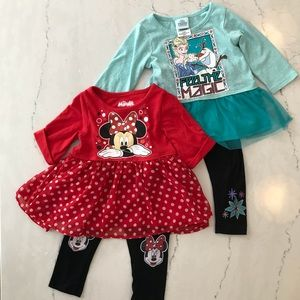 Disney's Frozen and Minnie Mouse Outfits